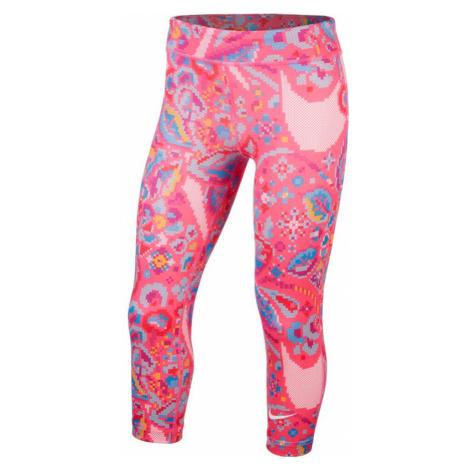 Dievčenské legíny Nike One Tight Capri Femme ružové
