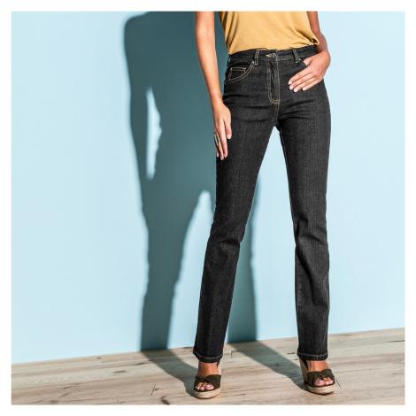 Blancheporte Rovné džínsy pre nízku postavu čierna