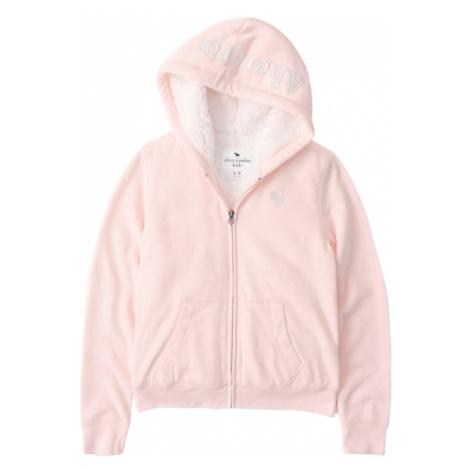 Abercrombie & Fitch Tepláková bunda  ružová / biela
