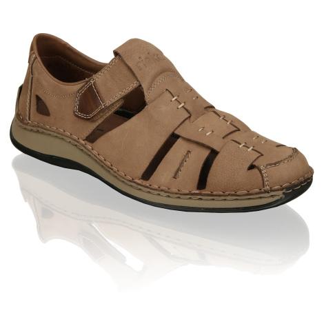 Rieker nubuk Športová nazúvacia obuv béžová