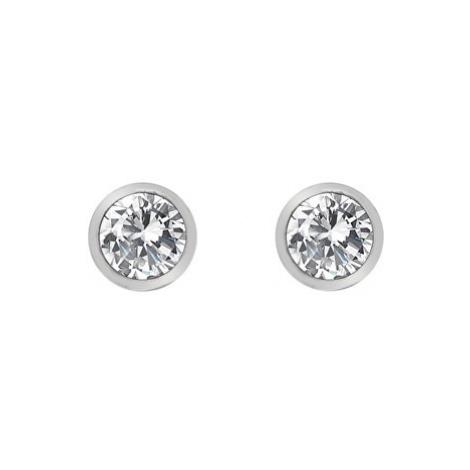 Hot Diamonds Strieborné náušnice s topaz a pravým diamantom Willow DE584