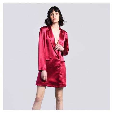 Červené saténové blejzrové šaty Glamorous