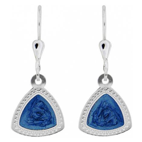 Praqia Elegantné strieborné náušnice s modrým stredom NA5107_RH