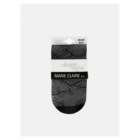 Čierne vzorované pančuchové nohavice Marie Claire