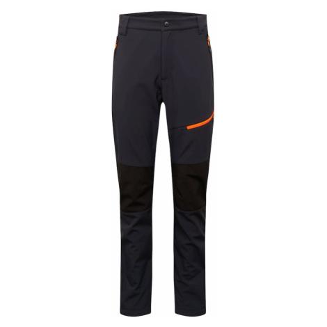 CMP Outdoorové nohavice  tmavooranžová / antracitová