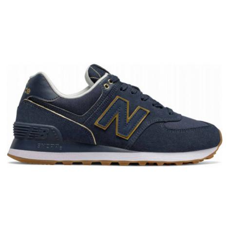 New Balance WL574SOC tmavo modrá - Dámska obuv na voľný čas