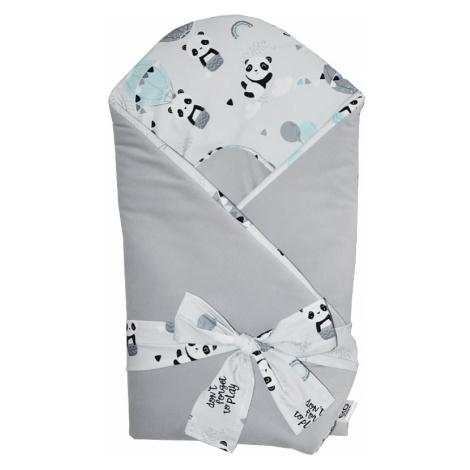 EKO Zavinovačka bavlnená VELVET Panda Grey