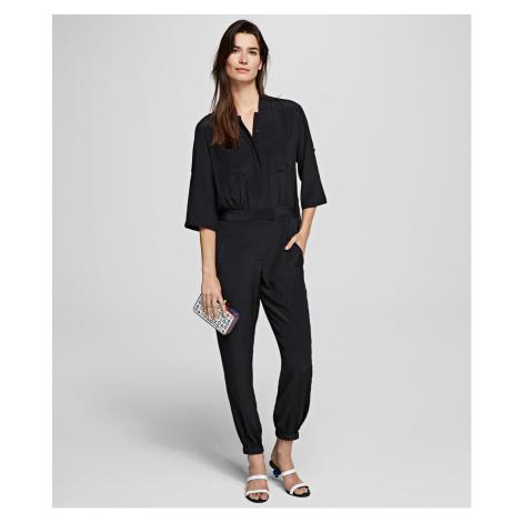 Šaty Karl Lagerfeld Silk Jumpsuit W/ Pleated Back