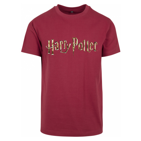 Pánske tričko MERCHCODE Harry Potter Logo Tee Farba: burgundy