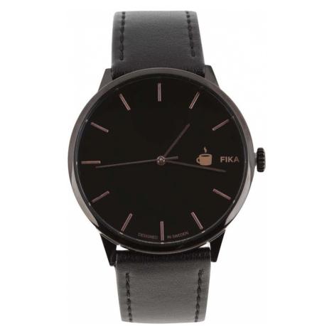 CHPO Čierne unisex hodinky s remienkom z vegánskej kože Cheapo Khorshid Fika