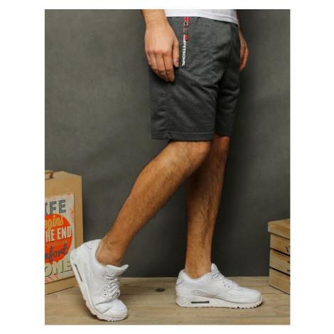 Men's short sweatpants, dark gray SX2005 DStreet