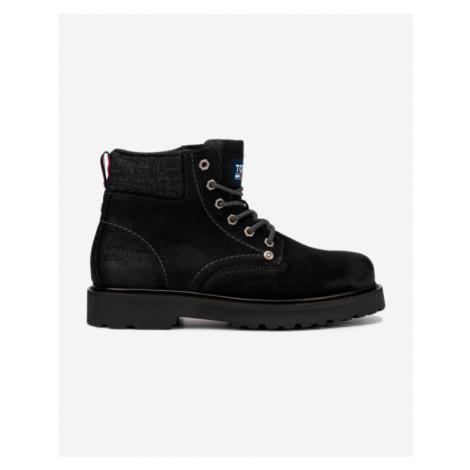 Tommy Jeans Lace Up Členková obuv Čierna Tommy Hilfiger
