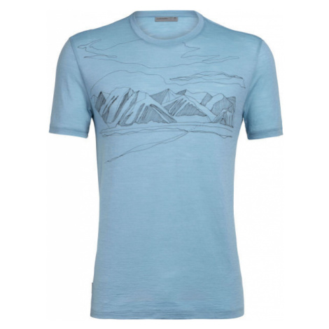 Icebreaker SPECTOR SS CREWE CORONET PEAK modrá - Pánske športové tričko Icebreaker Merino