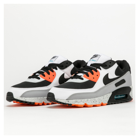 Nike Air Max 90 white / black - turf orange
