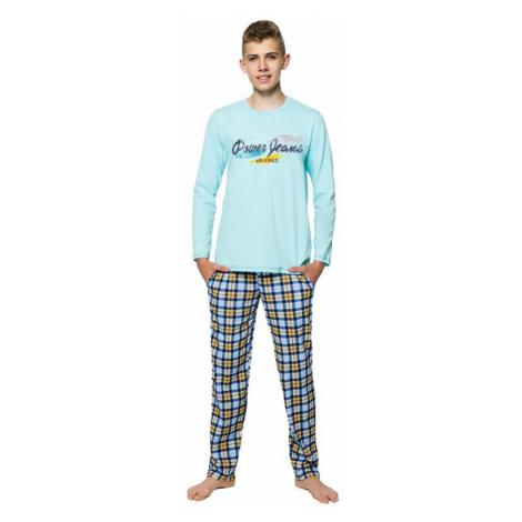 Chlapčenské pyžamo s nápisom Marián tyrkysové Taro
