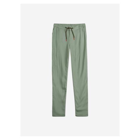 Zelené dievčenské casual nohavice