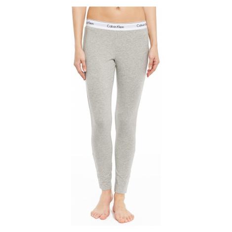 Calvin Klein sivé nohavice Legging Pant s bielou širokou gumou