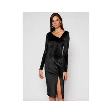 Just Cavalli Koktejlové šaty S04CT1103 Čierna Slim Fit