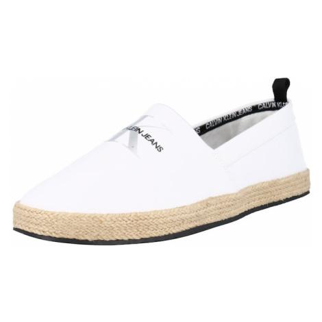 Calvin Klein Jeans Espadrilky  biela / čierna