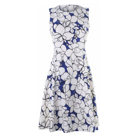 DKNY Slim Line Fit and Flare Dress Ladies Multi 2