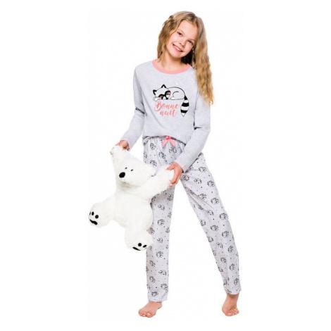 Dievčenské pyžamo Maja šedé s mývalom Taro