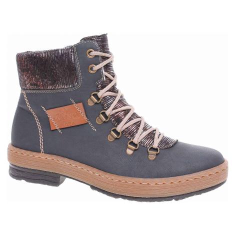 Dámská kotníková obuv Rieker Z6743-14 blau Z6743-14