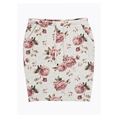 GATE Mini sukňa s kvetinovou potlačou