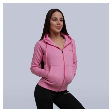 GymBeam Dámska mikina Zipper Hoodie Baby Pink  XS