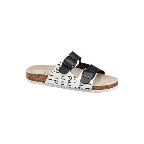 Domáca obuv Björndal čierno-biela