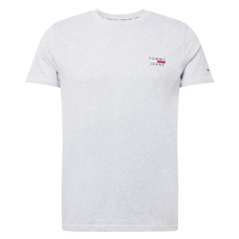Tommy Jeans Tričko  svetlosivá / biela / námornícka modrá / červená