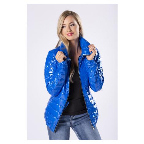 Lesklá modrá bunda