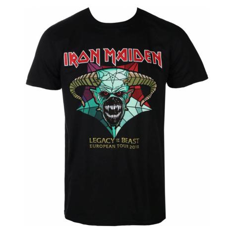 Tričko metal ROCK OFF Iron Maiden Legacy of the Beast European Tour 2018 Čierna
