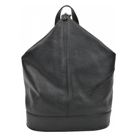 Carla Ferreri Dámsky kožený batoh AW20CF1545 Nero