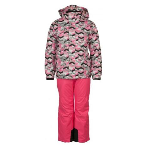 ALPINE PRO BOJORO ružová - Detský lyžiarsky set