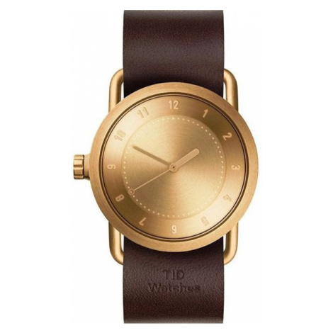 TID Watches No.1 36 Gold / Walnut Leather Wristband