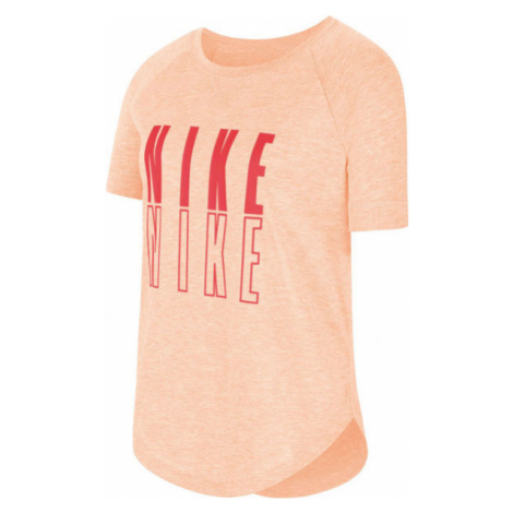 Nike SS TROPHY GFX TOP G oranžová - Dievčenské tričko