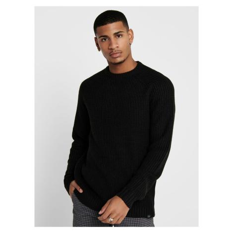 Čierny sveter ONLY & SONS Kelvin