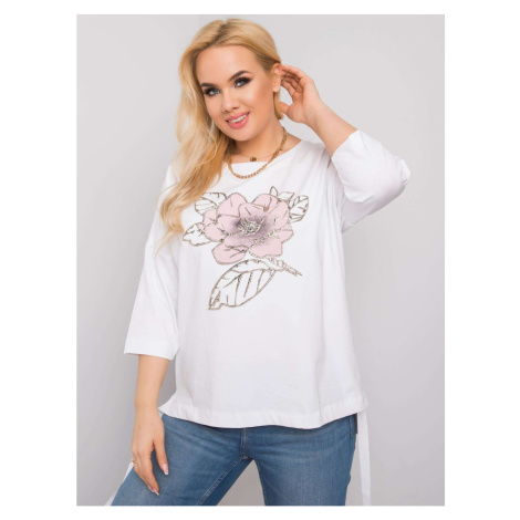 White blouse with a floral print