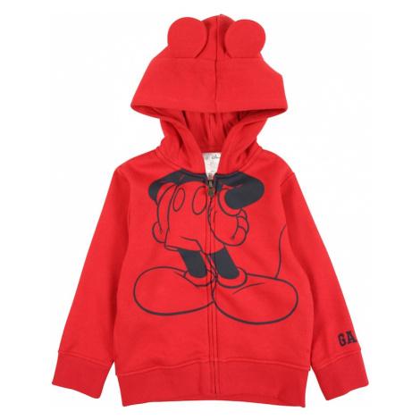 GAP Tepláková bunda 'MICKEY'  červená / čierna