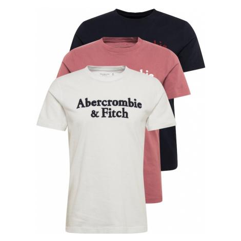 Abercrombie & Fitch Tričko  biela / námornícka modrá / svetločervená / čierna / rubínová
