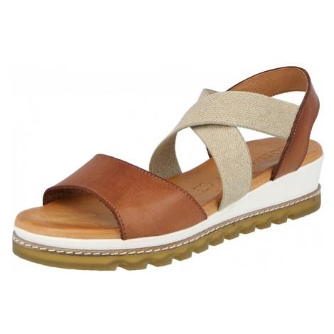 COSMOS COMFORT Remienkové sandále  hnedá / sivá