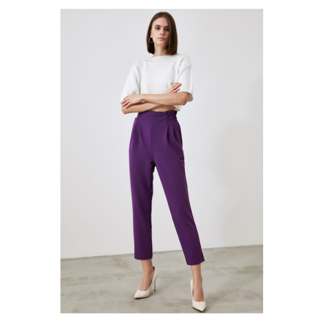 Trendyol Purple Button Knitted Pants