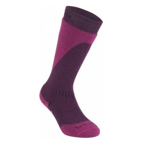 Ponožky Bridgedale Ski Midweight light plum/berry/351
