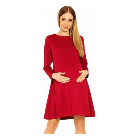 Tehotenské šaty Nathy červené PeeKaBoo