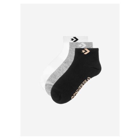 Ponožky Converse 3Pp Women'S Star Chevron Logo, Flat Knit Farebná