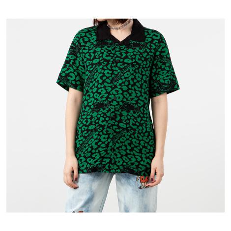Lazy Oaf x The Flintstones Dino Leopard Bowling Shirt