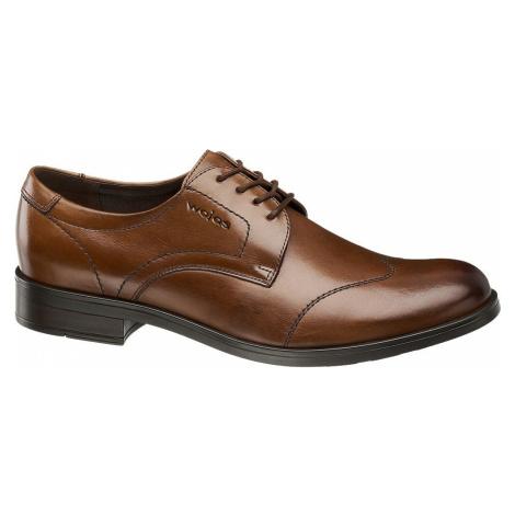 Wojas - Hnedá kožená spoločenská obuv Wojas