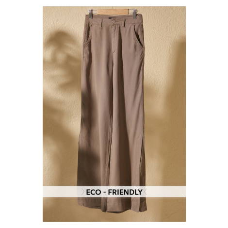 Trendyol Khaki High Waist Wide Leg Jeans Khaki