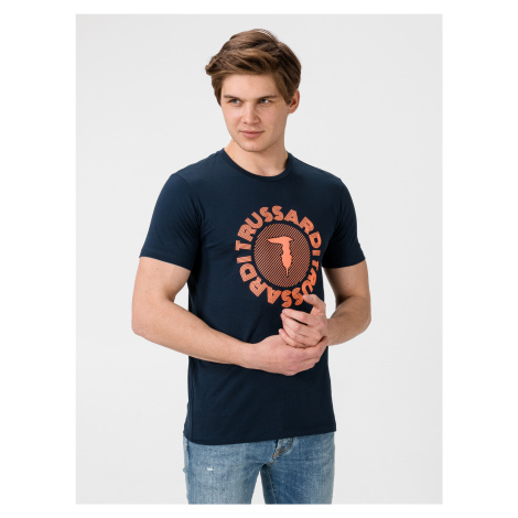 Tričko Trussardi T-Shirt Pure Cotton Regular Fit Modrá