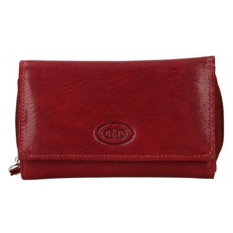 Dámska kožená peňaženka DD Anekta Debra - tmavo červená